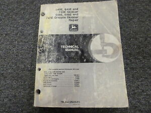 John Deere 540e 640e 740e 548e 648e 748e Skidder Service Repair Manual Tm1486