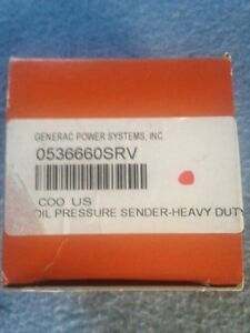 Generac Part Generac 0536660srv Oil Pressure Sender heavy Duty