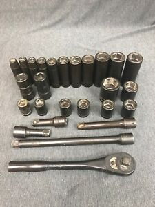 Cornwell Socket Set 26pc Metric And Standard With Extensions And Ratchet