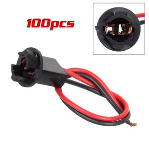 100pcs T10 168 194 2825 W5w Wiring Harness Extension Connector Sockets Pre wired