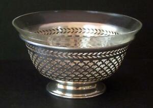 Watson Sterling Silver 5749 Small Basket W Glass Liner Lovely