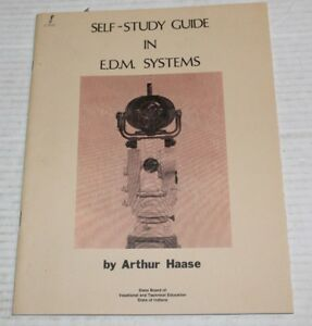 Self Study Guide In Edm Electronic Distance Measuring Systems Vintage Booklet
