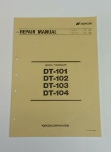 Topcon Dt 101 Dt 102 Dt 103 Dt 104 Digital Theodolite Factory Repair Manual