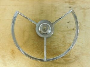 Original Vintage 1956 Ford 24411 Steering Wheel Center Cap Horn Ring