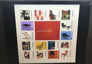 Original Charles Ray Eames Usps Stamp Poster From Postal Service 2008