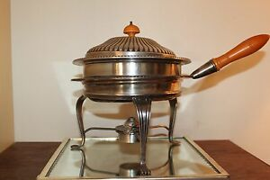 Tureen Lidded Silver Plate Sheffield Soup Bowl With Stand