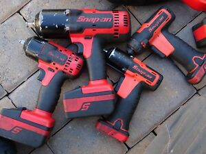 Snap on Impact Wrench Set 3 8 Ct8810b 1 2 Ct8850 5 Lithium Battery