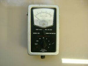 Ird Mechanalysis Vibration Meter 306