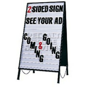 Outdoor indoor Double Sided Steel Letter Sign 22 Inch Width 41 Inch Height
