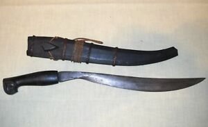 Antique Philippines Bolo Sheath Scabbard 16 1 2 Ebony Fittings Tribal Knife