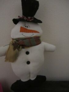 Primitive Snowman Doll 17 Inch Winter Christmas