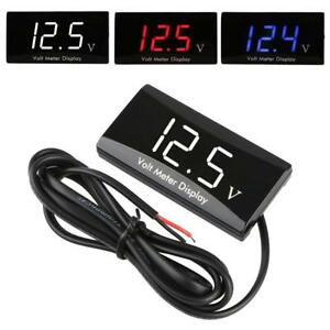 Led Digital Display Voltmeter Car Motorcycle Voltage Gauge Panel Meter 0 2