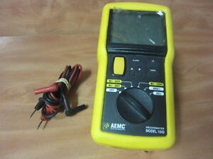 Aemc Megohmmeter Model 1045 With Fluke Leads Fast Free Shipping