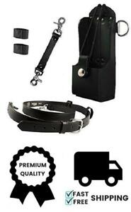 Boston Leather Firefighter Bundle Anti sway Strap For Radio Strap