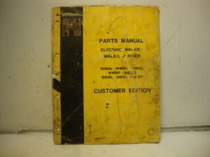 Hyster Electric Walkie Rider Lift Truck Parts Manual