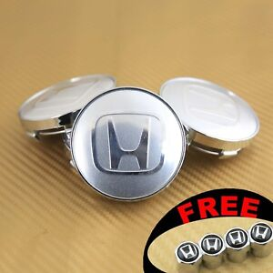 4 Car Alloy Wheel Rim Center Logo Cap Hub 60mm 2 35 For Honda Acura Mugen Black