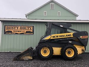 2007 New Holland L185 Skid Steer Loader Enclosed Cab Heat High Flow Cheap Ship