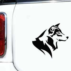 Fun Husky Dog Head Sticker Auto Car Truck Window Vinyl Wall Laptop Laptop Decal