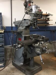 Bridgeport Milling Machine Series I 2hp With Servo Power Feed And Dro
