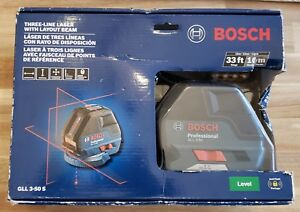 Bosch Gll 3 50 S Self Leveling Cross Line Laser Level W Plumb Points New