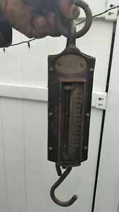 Antique Chatillon S Iron Clad Heavy Duty 300 Lb Hanging Scale