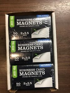 300 Business Card Magnets Self Adhesive Peel Stick 2 x3 5