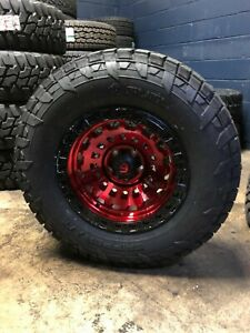 5 17x9 Fuel D632 Zephyr Red 33 At Wheel And Tire Package Jeep Wrangler Jk Jl