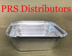 1 Lb Aluminum Foil Containers With Clear Dome Lids Disposable Takeout Pans