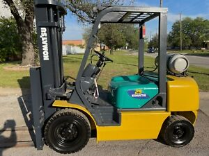 2011 Toyota 8fdu25 5k Industrial Warehouse Forklift Lift Truck 3 stage Mast