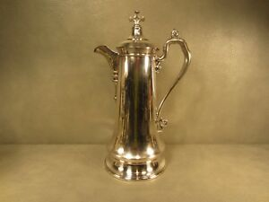 Huge Reed Barton Silver Plate 14 1 2 Inch Tall Water Pitcher Coffee Pot