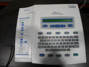 Burdick Atria 3100 Ekg Machine And Power Supply