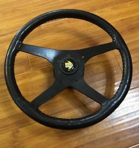 Genuine Vintage Momo Champion Leather Steering Type Kba 15 Inch Hand Wrapped