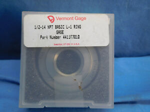 Vermont Gage 441107010 1 2 14 Npt Basic L 1 Threaded Ring Gage New