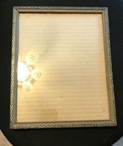 Vintage Wood Picture Frame With Glass 8 X 10