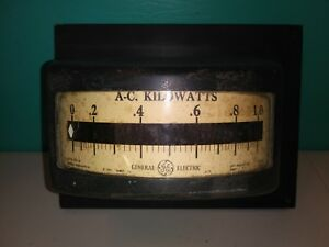 Vintage General Electric Usa A c Kilowatts Meter