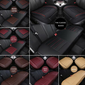 Universal Car Seat Cover Synthetic Leather Full Surround Front Rear Second Row