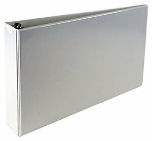 A3 2 Angle d 4 ring Vinyl View Binder With No Thumb Boosters white Taxfree