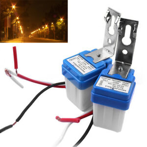 2pcs Dc As 10 12v Auto On Off Street Photocell Light Switch Photo Control Sensor