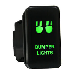12v Push Switch 8b81g Bumper Lights Led Green For Toyota Highlander Fj Cruiser