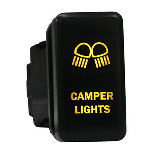 12v Push Switch 8b80o Camper Lights Led Amber On Off For Toyota Tacoma 4runner