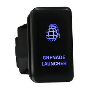 12v Push Switch 8b88b Grenade Launcher Led Blue On Off For Toyota Fj Cruiser