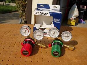 Radnor G 250 Cutting Welding Torch Regulator Set Oxygen Acetylene Gauges New