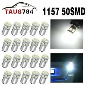 20pcs White 1157 50 Smd Led Replacement Bulbs For Car Interior Rv Camper Light