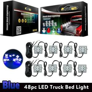 48 Led Truck Bed Cargo Light Ultra Bright Blue Rear Lamp 8pc Universal 8 Pods