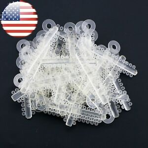 Usa 1040 Pcs Dental Orthodontic Ligature Elastic Ties Clear Color Usps Shipment