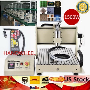 Usb Four Axis Cnc Router Engraver Engraving 6040 Desktop 1 5kw handwheel
