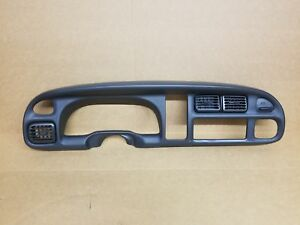 1998 2001 Dodge Ram Black Dash Radio Gauge Cluster Bezel 1500 2500 3500 Oem
