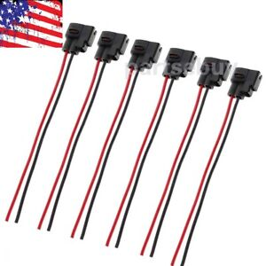 Set Of 6 Ignition Coil Connector Pigtail Plug Harness For Toyota Supra Lexus