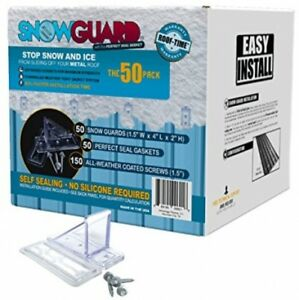 50 Qty Commercial Bulk Pack snow Guards Perfect Seal Gaskets And Screws