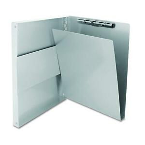 Aluminum Storage Clipboard Letter Office Document Paper Box Organizer 9 x12 New